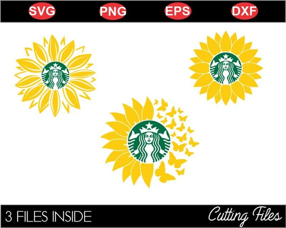 Sunflower Starbucks Svg Sunflower Tumbler Sunflower Etsy