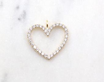 Romantic Heart Shape Blue Turquoise CZ Woman/'s Wedding Silver Pendant 42x30mm
