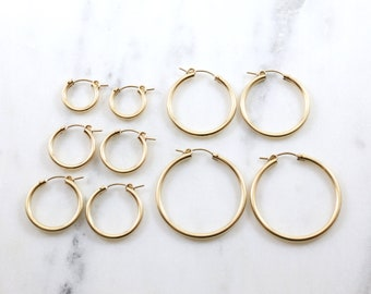 9123065f03459 15mm gold hoops | Etsy