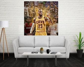 887ddfc9c4ea Lebron James - LBJ Cavaliers NBA MVP Basketball Poster Art Silk Print Home  Decor Wall Size - 12x12