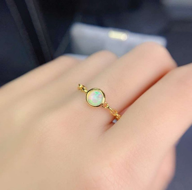 RingBand Wedding Ring Luxury Ring Natural Fire Opal Ring,925 Sterling Silver,Engagement Ring