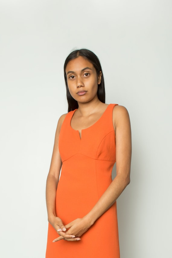 Vintage clementine mod shift mini dress
