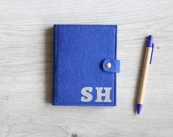 Notizbuch personalisiert,Notizbuch mit Zettelblock und Schreiber,Filz-Notizbuch