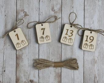 Adventszahlen aus Holz,Zahlen für Adventskalender, Adventskalender selber machen