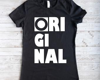 Original T-Shirt für Damen, schwarzes Damen T-Shirt, T-Shirt  für Frauen in schwarz