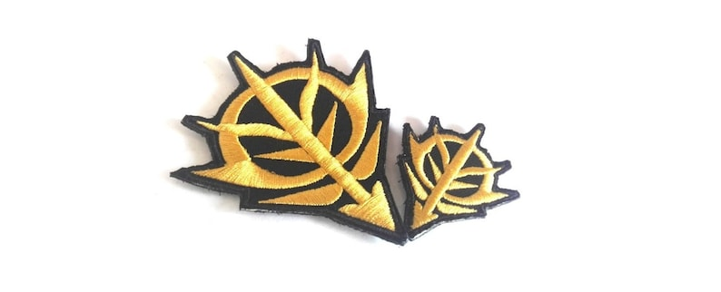 Gundam Zeon Logo Military Tactical Morale Embroidery Morale Patch Hook Backing 2pcs