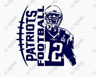 28993f120 New England Patriot Football Tom Brady SVG