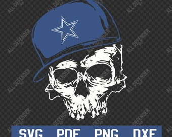 Dallas Cowboys Skull Fans SVG 03d37c8c3