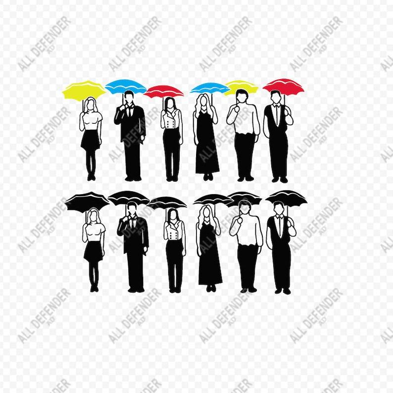 734a087e Friends TV Show SVG File Friends Umbrellas SVGFriends Show | Etsy