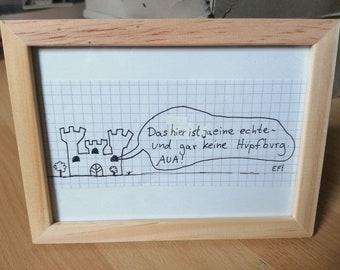 BURG - Egon Forever! Original drawing by Andre Lux (framed)