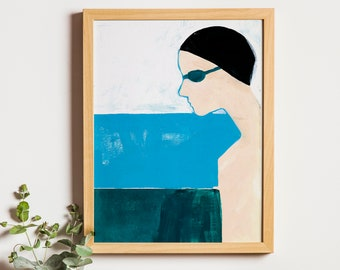 Art Print: Shame XI | Swimming Pool Paint Illustration Joanna Ambroz | Mothers Day Print | Mothers Day Poster | Mom Print | Gift for Mom