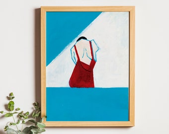 Art Print: Shame IV | Swimming Pool Paint Illustration Joanna Ambroz  | Mothers Day Print | Mothers Day Poster | Mom Print | Gift for Mom