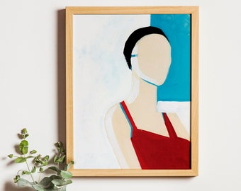 Art Print: Shame VII | Swimming Pool Paint Illustration Joanna Ambroz | Mothers Day Print | Mothers Day Poster | Mom Print | Gift for Mom