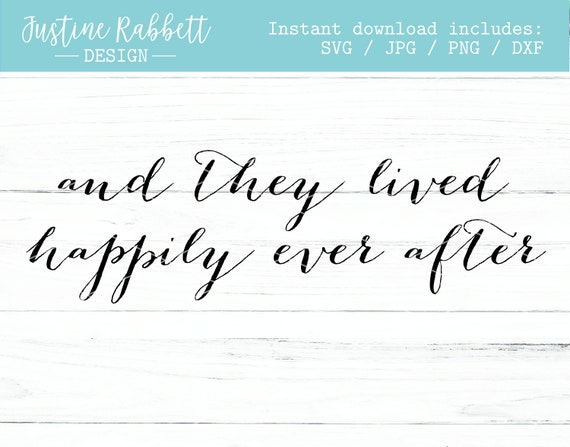 And They Lived Happily Ever After Wedding Design Romantic Etsy