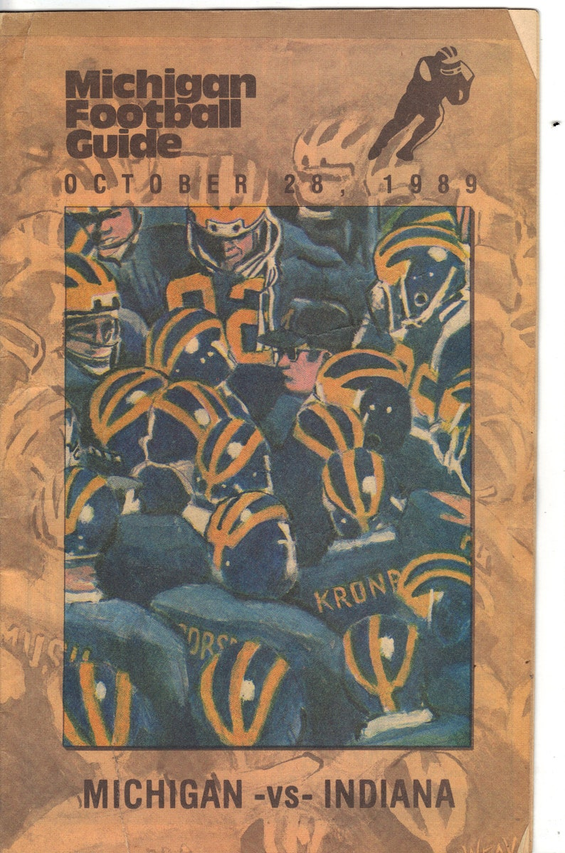 Indiana 1989 UM v U of M Football Guide