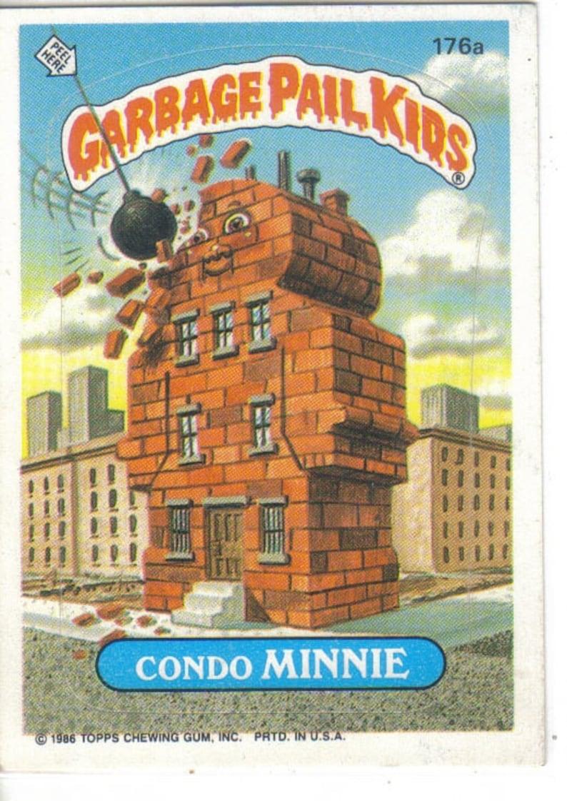 Garbage Pail Kids 1986 #176a Condo Minnie