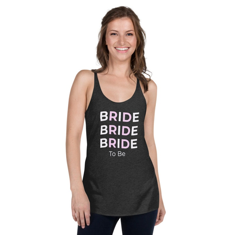 Sweating for Wedding Engagement Gift Bride to Be Women/'s Racerback Fitness Gift New Bride Shirt