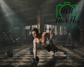Gym Fitness, Digital Background, Digital Backdrop, Digital Download, Photoshop Background, Add Your Own Subject