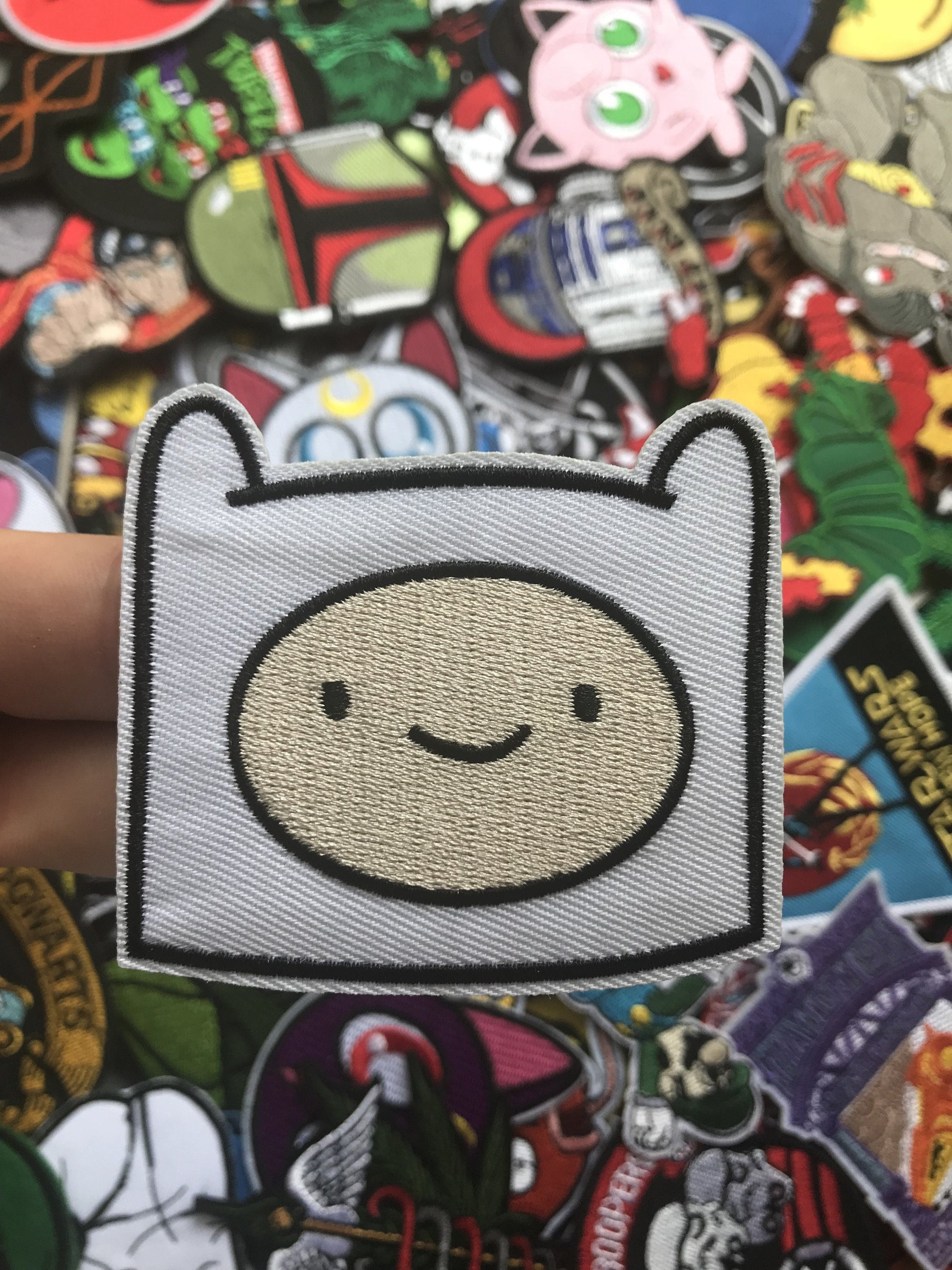 Adventure Time Jack head Embroidered Iron On//Sew On Patch