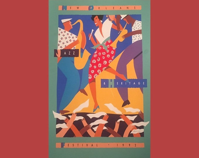 1992 New Orleans Jazz & Heritage Poster