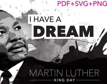 Luther King Vector Etsy