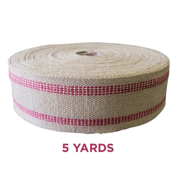 No Stripe 72 Yard Roll 2 Natural Jute Webbing