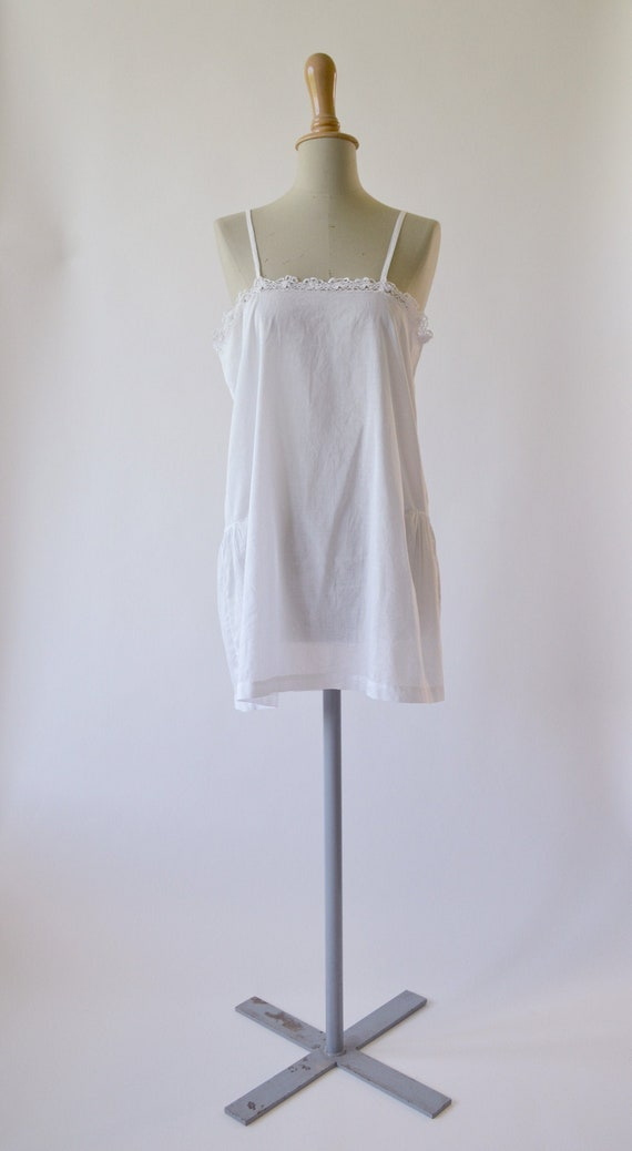 1920s Antique cotton organdy dress - Size M