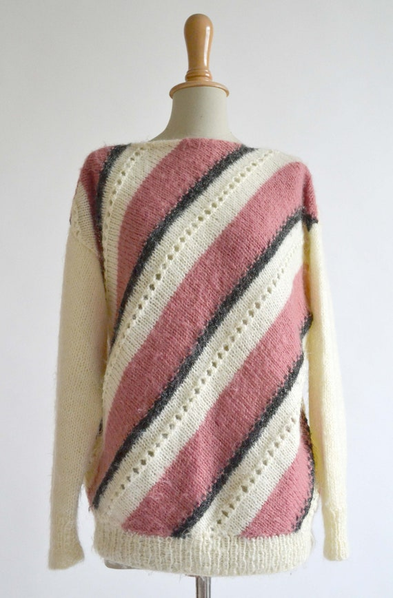 1970's Diagonal stripes jumper