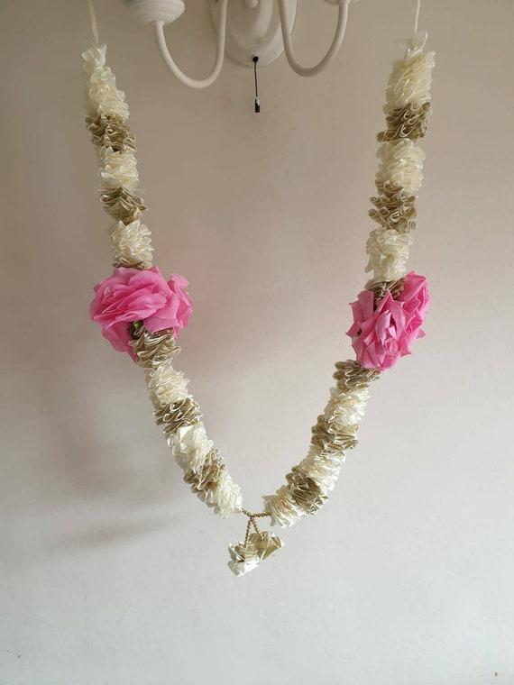 Artificial Indian malagarlandhaar jaimala shaadi indian wedding pooja ashtami,Mala 1 pc