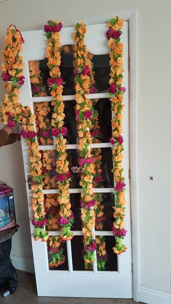 5 Feet Artificial Marigold Flowers Garlands Home Wedding Decoration 1pc