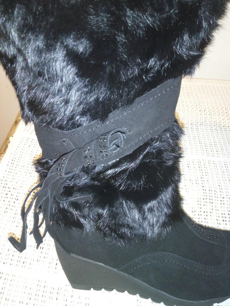 1e68abdb93412 Women's natural rabbit and suede fur boots, mukluks, yeti, natural fur  boots 37 size EU,6 size US