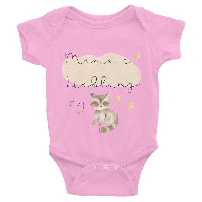 Onesie Baby Strampler sizes 6-24 Months Mom/'s Darling-Baby Romper Bodysuit with small Raccoon and Stars