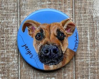 Pet Portrait Wooden Coaster
