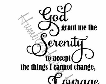 graphic about Free Printable Serenity Prayer referred to as Serenity prayer Etsy