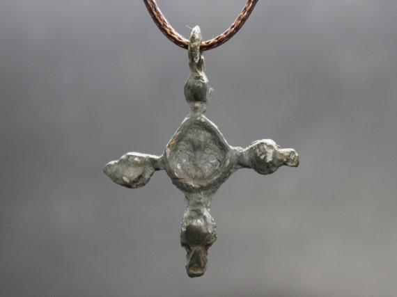 Ancient Medieval Crusaders Cross Pendant. Medieval
