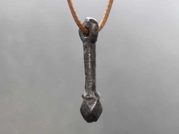 Ancient Medieval Mace pendant. Bludgeon pendant.Me