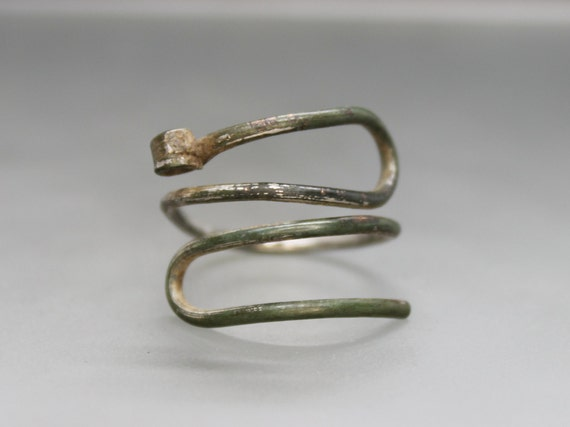 Ancient Medieval Viking spiral ring. Viking ring.