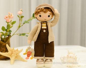 TOMMY The Fisher Crochet Doll Pattern Amigurumi, PDF Knitting Tutorial