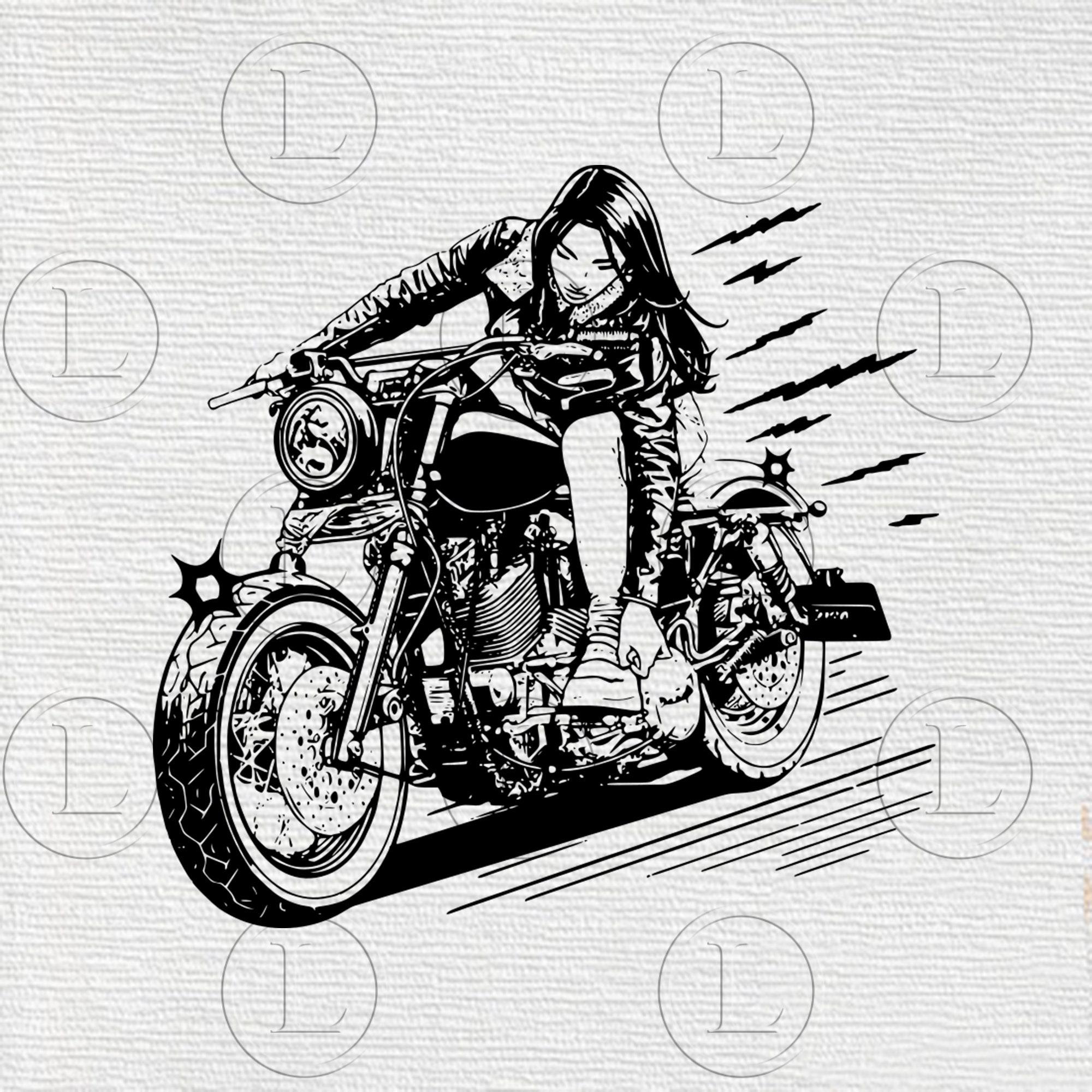 Biker chick pics Biker Girl Svg Biker Chick Svg Women On Motorcycles Png Women Etsy