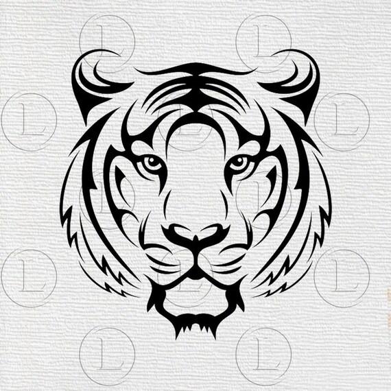 Tiger Svg File Tiger Svg Tiger Animals Tiger Animals Etsy