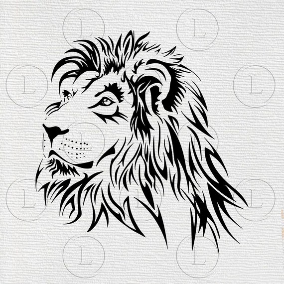 Lion Svg King Of The Jungle Eps Lion Animal Lion Tattoo Etsy