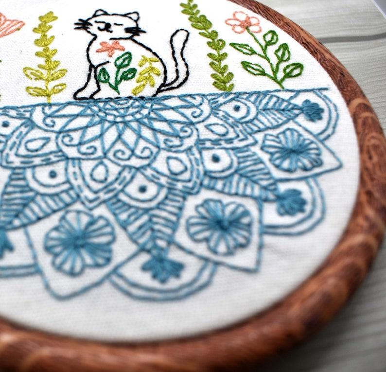 Cat Mandala Embroidery Pattern Cat Embroidery Pattern ...