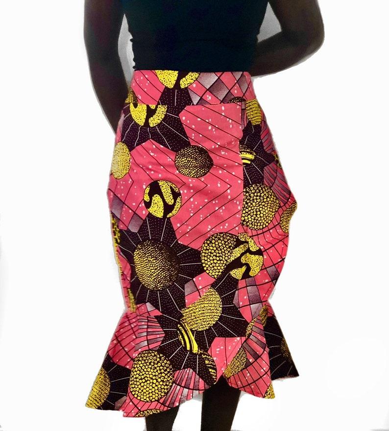 Ankara Ruffle Skirt----free shipping US size 14