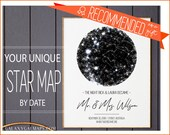 Custom Wedding Gift for Bride and Groom, CUSTOM Star Map, Sky Map Wedding Gift, Personalized Wedding Gifts for Couple, Bridal Shower Gift