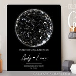 Constellation Star Map, Unique Mens Gift for Him, Wedding Gift for Couple, Newlywed Wife Gift, 5th Wedding Anniversary Gift, Husband Gift