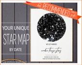 10 Year Anniversary, Custom Star Map Print, Honeymoon Gift, Personalized Gift For Wife, For Him, Full Moon Night Sky Print, Tin Anniversary