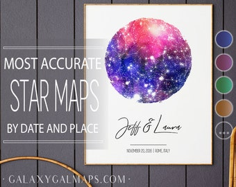 Star Chart Poster, Star Chart Art Print, Space Decor, Personalized Star Poster, Milky Way, Zodiac Print Decor, Space Tapestry Watercolor