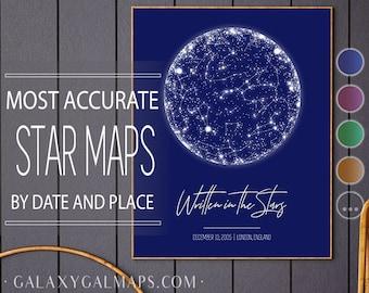 Night Sky Print, Custom Star Map Print, Constellation Print, Night Sky Poster, Astronomy Art Print Astronomy Poster, Constellation Gift