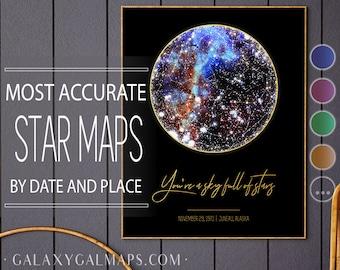 Star Map Poster,Custom Sky Map PRINTABLE, Celestial Wedding Space Map Astrology Star Chart, Sternenkarte Drucken Personalized Skymap Starmap