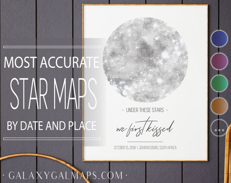 Star Map Print, Custom Star Map By Date, Watercolor Star Map Prints Pdf  Free Shipping Astronomy Decor Gift Astronomy Poster Art Print Stars